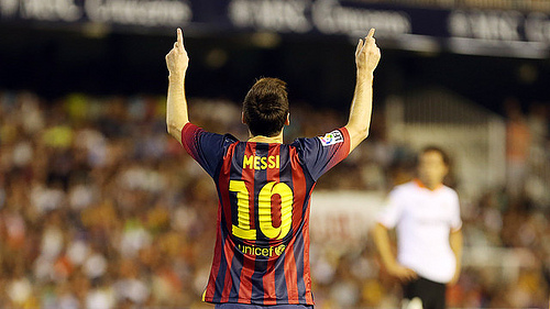 lionel messi Valencia 2 3 Barcelona Match Highlights; Lionel Messi Scores A Hat Trick [VIDEO]