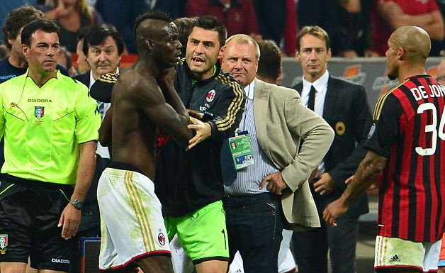 mario balotelli Mario Balotelli Was Shown a Red Card For Dissent After Final Whistle Against Napoli [VIDEO]: Daily Soccer Report