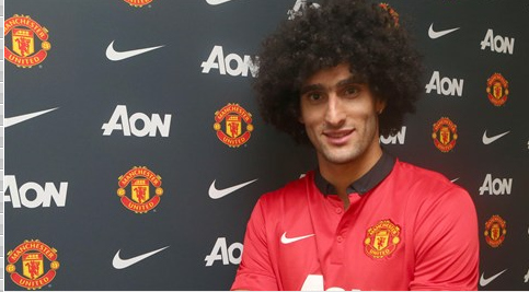 marouane fellaini Marouane Fellainis First Interview as a Manchester United Footballer [VIDEO]