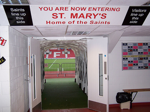 st marys stadium tunnel What the Matchday Experience is Like At Southamptons St Mary's Stadium