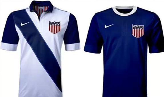 usmnt home away shirts 2014 world cup Are These the USMNT Home and Away Shirts for the 2014 World Cup? [PHOTOS]