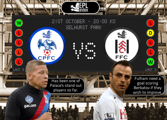 Crystal Palace Vs Fulham Crystal Palace vs Fulham, Premier League Gameweek 8: Open Thread
