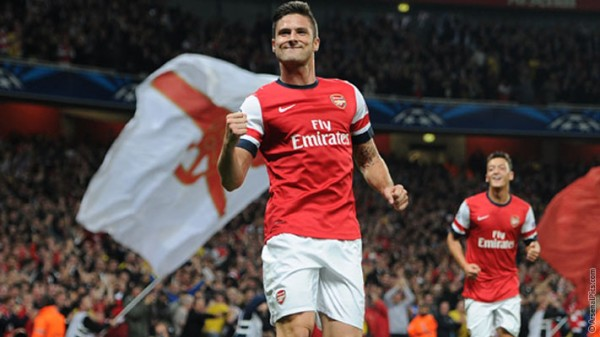 GIROUD1 600x337 Arsenal's Sensational Early Season Form Stems From A Summer Of Overdue Stability