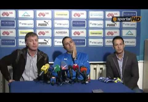 Ivaylo Petev Levski Sofia Ultras Force New Coach to Remove Club Shirt At His Own Press Conference [VIDEO]
