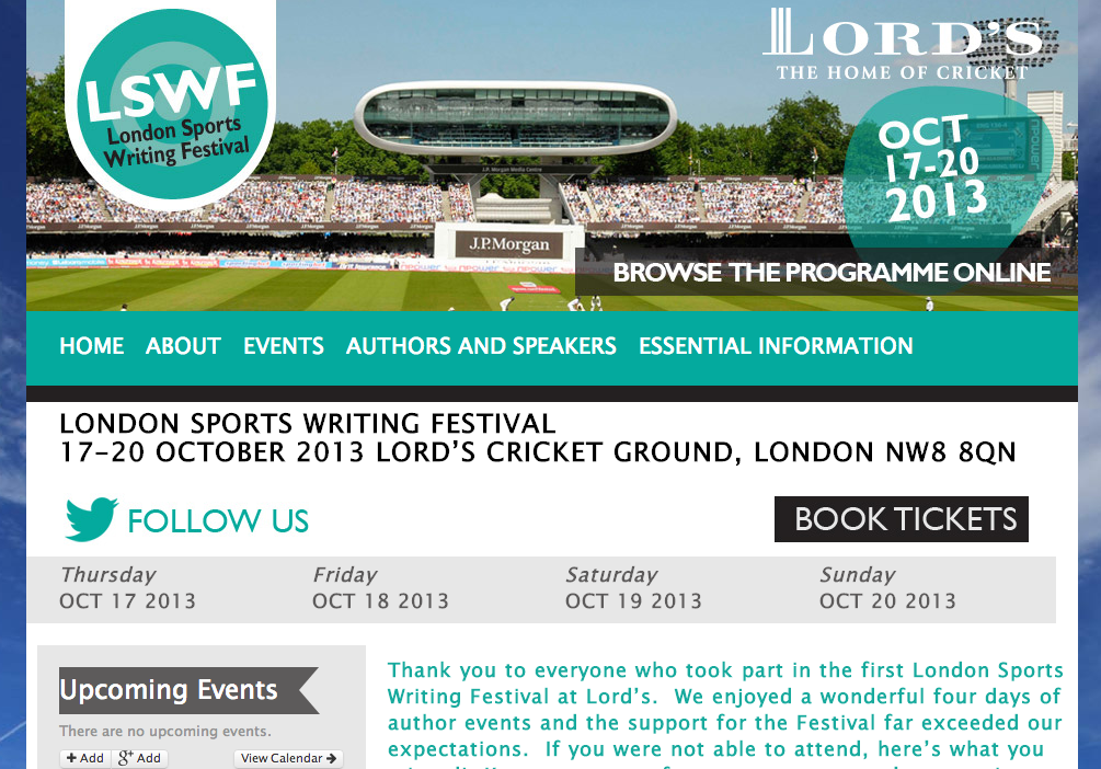 London Sports Writing Festival