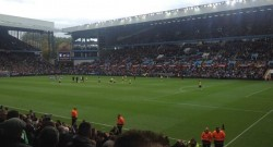 The view from my seat at Villa Park