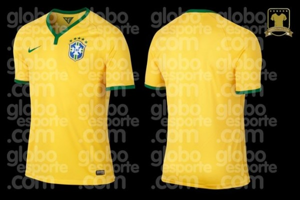 brazil home shirt world cup 600x401 Brazil Home Shirt for 2014 World Cup: Leaked [PHOTOS]
