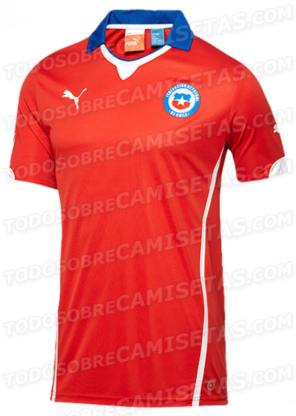 chile home shirt world cup 600x843 Leaked Photos of World Cup Shirts That The 32 Teams Will Wear In Brazil