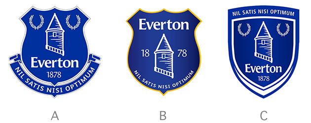 everton club crests Everton Reveal New Club Crest As Chosen By The Club Supporters