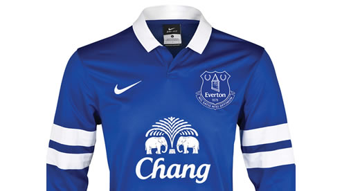 everton home shirt new crest Everton Reveal New Club Crest As Chosen By The Club Supporters