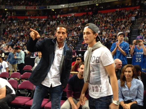 ferdinand januzaj 600x450 Several Manchester United Players Attend NBA Game in UK While On International Break: Nightly Soccer Report