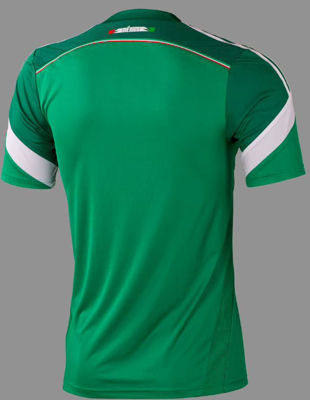 mexico home shirt back adidas Unveils Mexico Home Shirt For 2013/14 Featuring Innovative Design [PHOTOS]