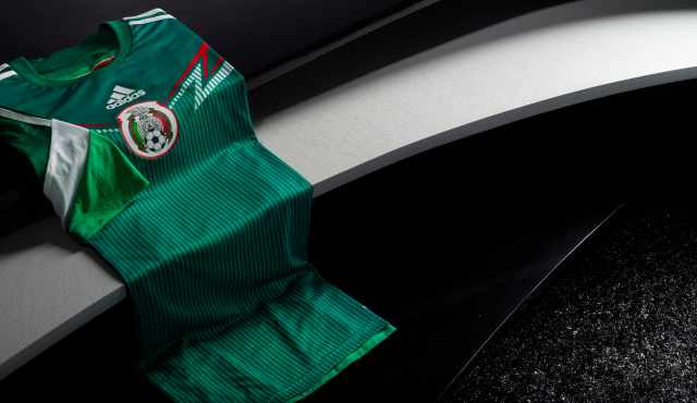 mexico home shirt folded adidas Unveils Mexico Home Shirt For 2013/14 Featuring Innovative Design [PHOTOS]