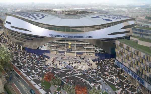 new white hart lane 600x372 Tottenham Hotspur Launch Ambitious NFL Stadium Plans: Daily Soccer Report