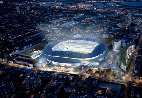 new white hart lane stadium 600x416 Tottenham to Begin Construction On New 56,000 Seat Stadium in 2014; Ready for 2016 17 Season: Daily Soccer Report