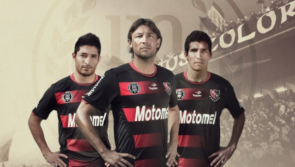 newells old boys shirt 600x340 Newells Old Boys 110 Year Anniversary Shirt, 2013/14 [PHOTOS]