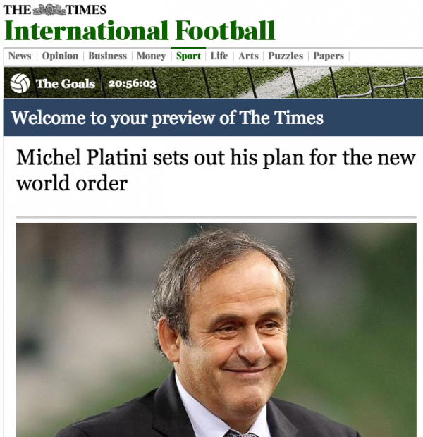 platini world cup 40 teams 600x620 Michel Platini Announces Plans For a 40 Nation World Cup