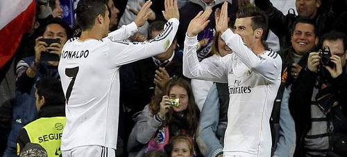 ronaldo bale1 Gareth Bale Scores Brace While Ronaldo Scores Hat Trick In 10 Goal Thriller: Nightly Soccer Report