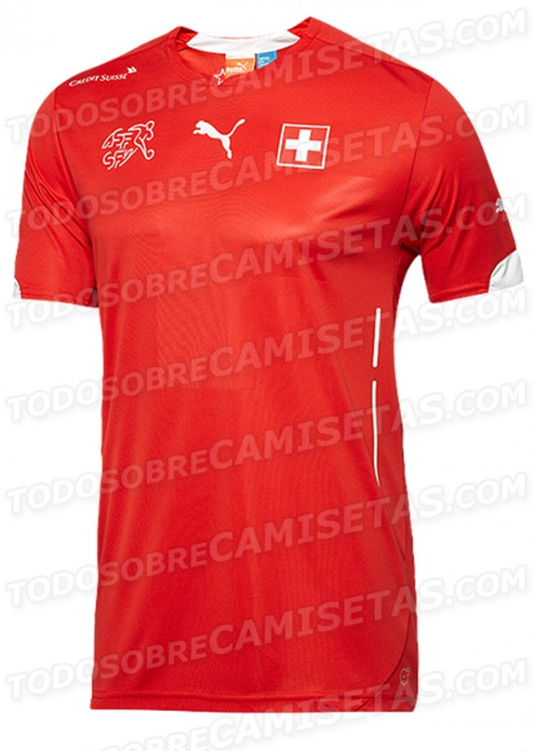 switzerland home shirt world cup 600x843 Leaked Photos of World Cup Shirts That The 32 Teams Will Wear In Brazil