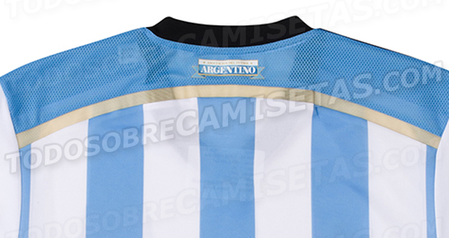 argentina world cup shirt back top Argentina World Cup Home Shirt For Brazil 2014: Leaked [PHOTOS]