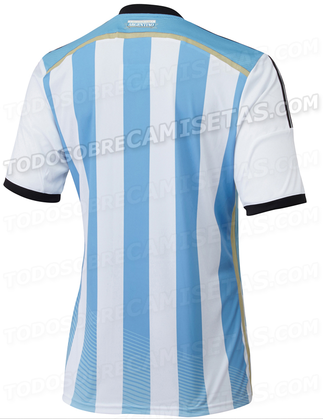 argentina world cup shirt back Argentina World Cup Home Shirt For Brazil 2014: Leaked [PHOTOS]
