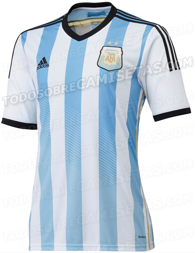 argentina world cup shirt front Argentina World Cup Home Shirt For Brazil 2014: Leaked [PHOTOS]