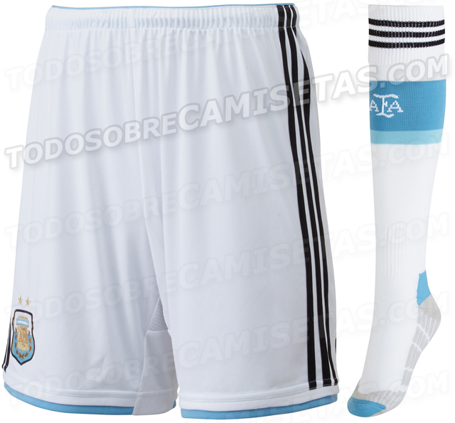 argentina world cup shorts socks Argentina World Cup Home Shirt For Brazil 2014: Leaked [PHOTOS]