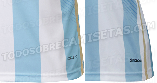 argentina world shirt detail Argentina World Cup Home Shirt For Brazil 2014: Leaked [PHOTOS]