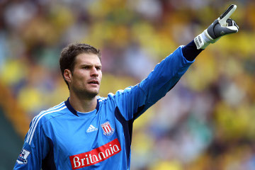 asmir begovic Asmir Begovic Scores After 12 Seconds to Become Only Fifth Goalkeeper Ever to Score In EPL [GIF]
