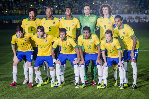 brazil team photo 600x397 Brazil vs Honduras, International Friendly: Neymar and Teammates Put On A Show in Miami [PHOTOS]