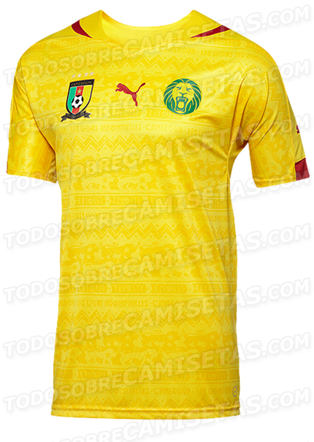 cameroon away shirt world cup Cameroon Home and Away Shirts For World Cup 2014: Leaked [PHOTOS]