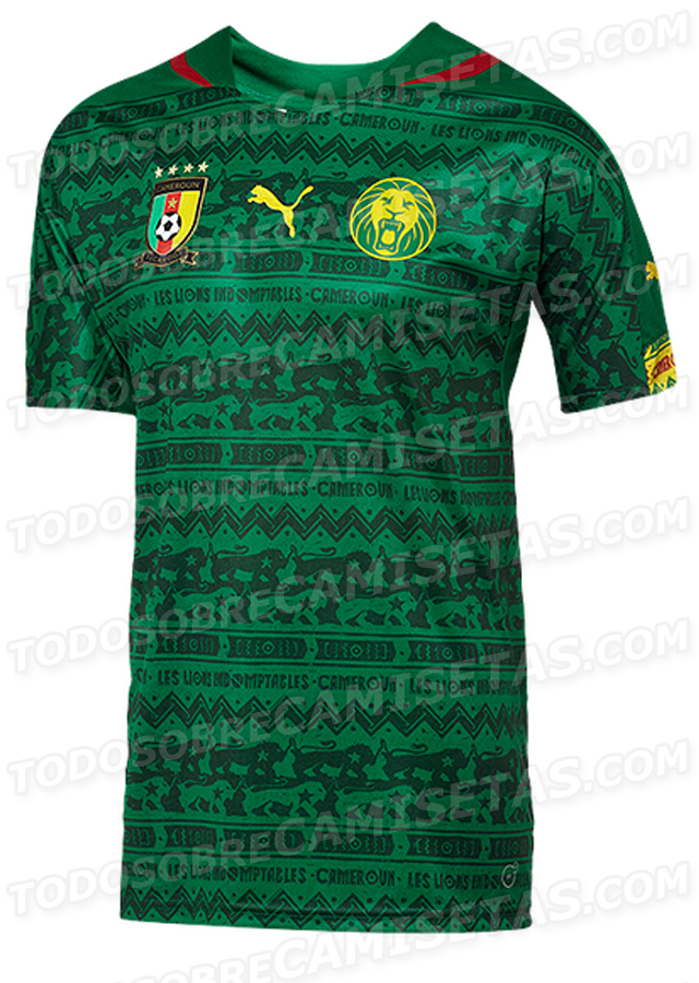 cameroon home shirt world cup Cameroon Home and Away Shirts For World Cup 2014: Leaked [PHOTOS]