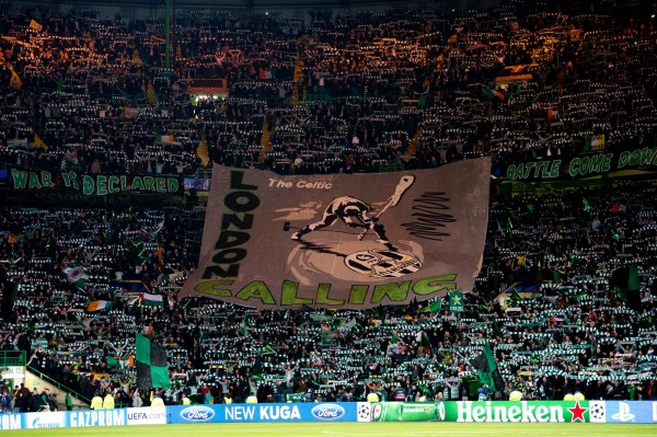 celtic fans 600x399 Celtic Park Is Set To Rock For One More European Night