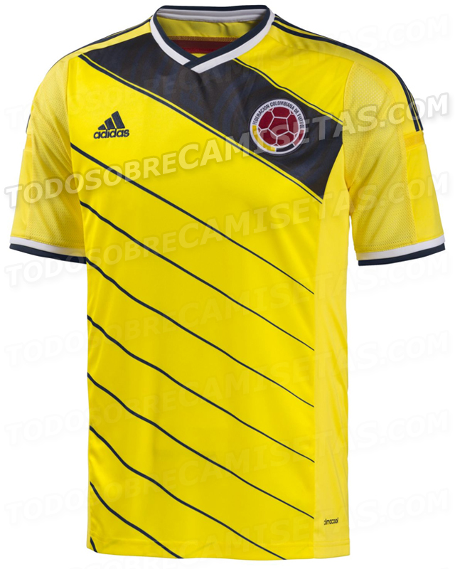 colombia world cup home shirt front Colombia World Cup Home Shirt For Brazil 2014: Leaked [PHOTOS]