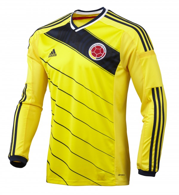 colombia world cup home shirt front1 600x654 Where to Buy the Colombia World Cup Shirt From adidas: Official [PHOTOS]