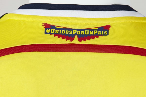 colombia world cup shirt crest 600x400 Where to Buy the Colombia World Cup Shirt From adidas: Official [PHOTOS]