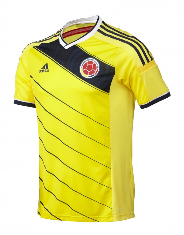 colombia world cup shirt front 600x763 Leaked Photos of World Cup Shirts That The 32 Teams Will Wear In Brazil
