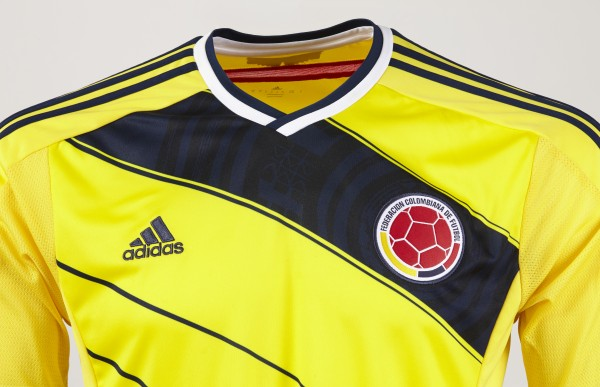 colombia world cup shirt front top 600x387 Where to Buy the Colombia World Cup Shirt From adidas: Official [PHOTOS]