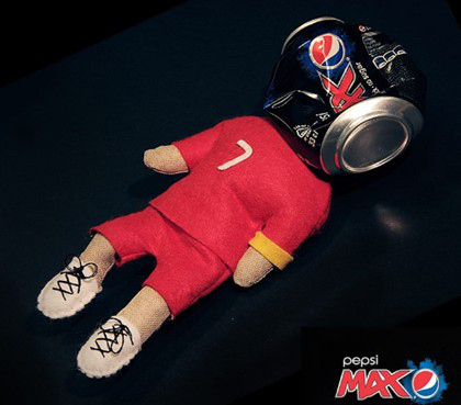 cristiano ronaldo can Cristiano Ronaldo Voodoo Doll Ad Campaign Backfires for Swedish Soft Drink Maker [PHOTOS]