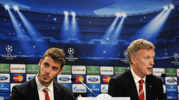 de gea moyes 600x337 Manchester United's Recent Form Will Be Tested Against Real Sociedad