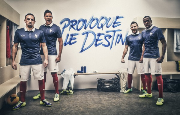 france world cup shirt group 600x384 France Home Shirt For World Cup 2014: Official [PHOTOS]