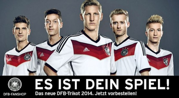 germany world cup shirt banner 600x328 Mesut Ozil and Julian Draxler Model Germanys World Cup 2014 Shirt: Official [PHOTOS]
