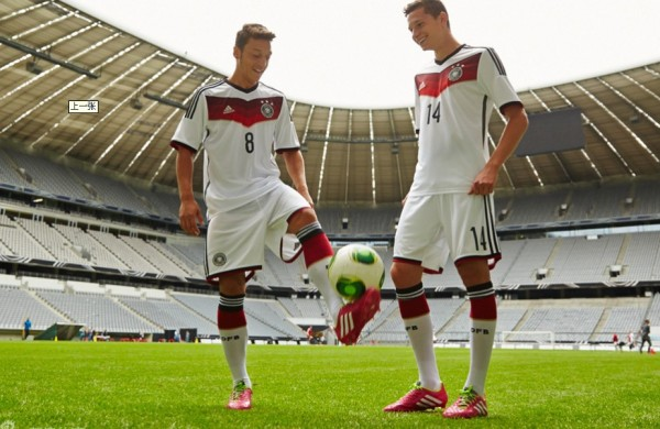 germany world cup shirt ozil draxler 600x390 Mesut Ozil and Julian Draxler Model Germanys World Cup 2014 Shirt: Official [PHOTOS]