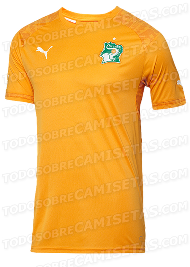 ivory coast home shirt world cup Ivory Coast Home And Away Shirts For World Cup 2014: Leaked [PHOTOS]