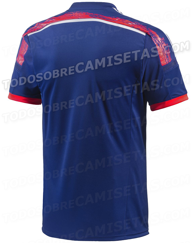japan world cup home shirt back Japan World Cup Home Shirt For Brazil 2014: Leaked [PHOTOS]