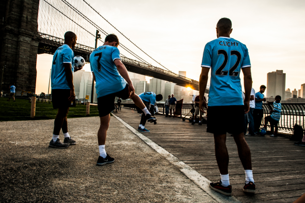 manchester city new york 600x400 New York City FC Launches Campaign to Recruit Fans Starring Manchester City Footballers [VIDEO]