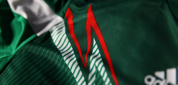 mexico world cup shirt stripes 600x286 Where to Buy the Mexico World Cup Shirt for 2014: Official [PHOTOS]