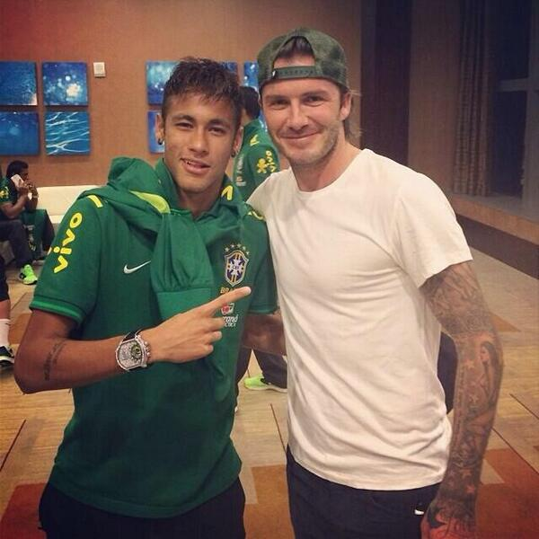 neymar beckham David Beckham Is In Miami, Hanging Out With Neymar, David Luiz and Lucas Leiva [PHOTOS]