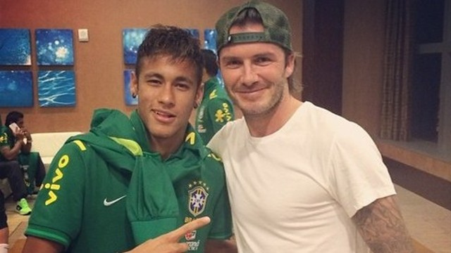 neymar beckham1 David Beckham Needs to Embrace Hispanic Population in Miami For MLS Team to Be a Success