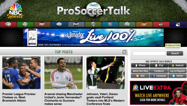 pro soccer talk 600x341 Rating NBC Sports Coverage of the Premier League On US TV and Internet